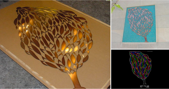 Laser Cut Copper Tree